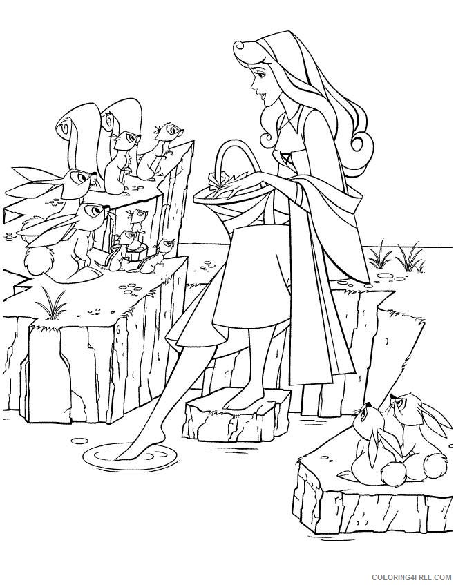 aurora coloring pages and forest animals Coloring4free