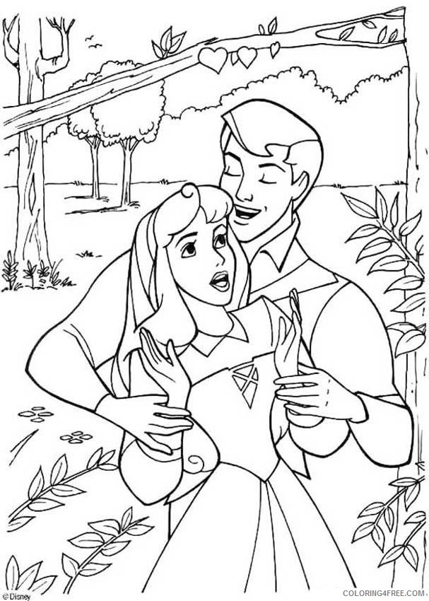aurora coloring pages in the forest Coloring4free