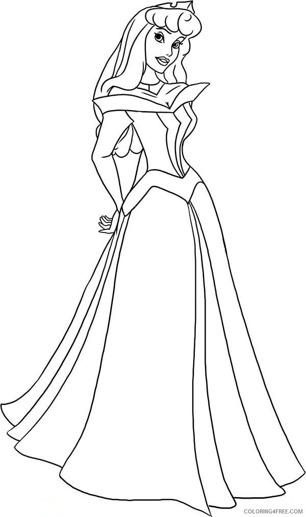 aurora coloring pages printable Coloring4free