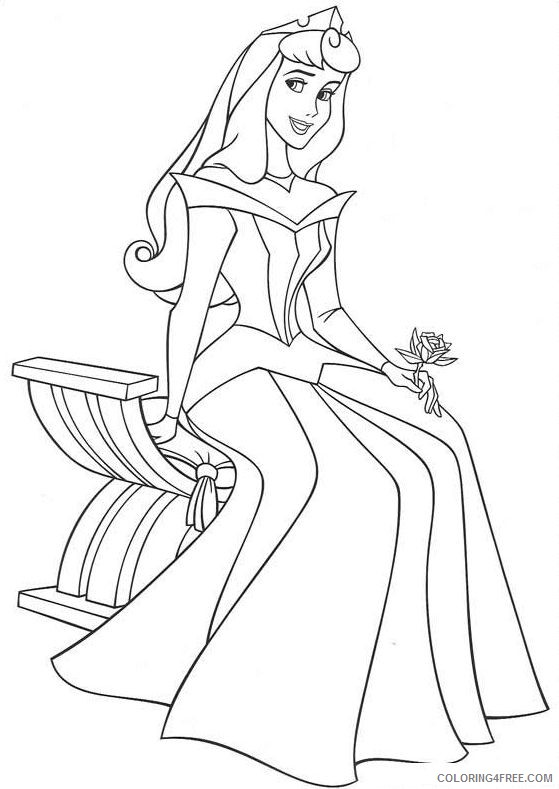 aurora coloring pages sitting on chair Coloring4free