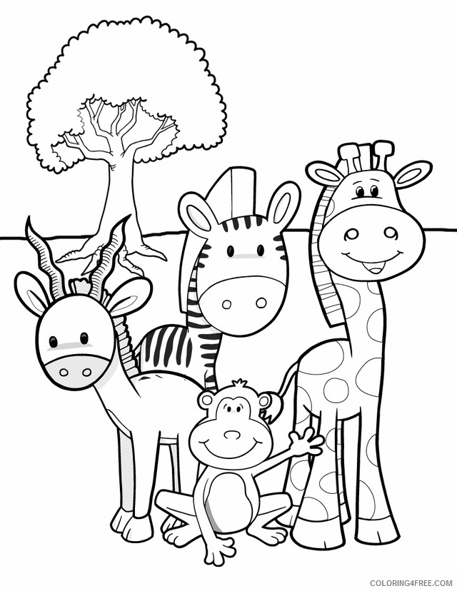 baby animals coloring pages Coloring4free