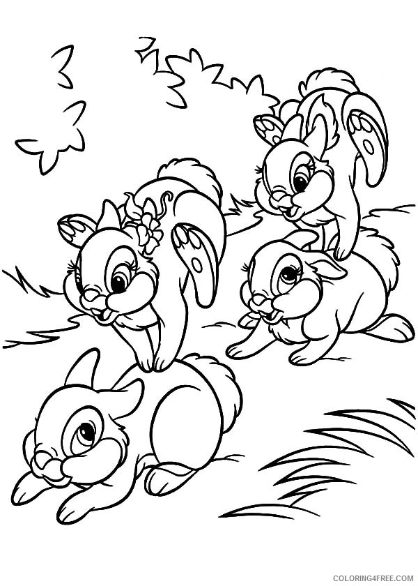 baby bunny coloring pages for kids Coloring4free