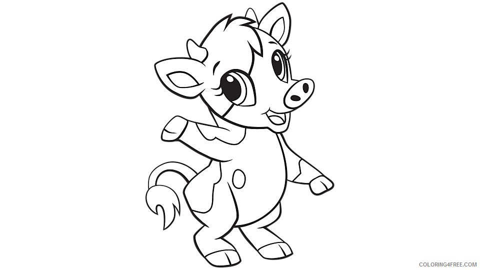 baby cow coloring pages for kids Coloring4free
