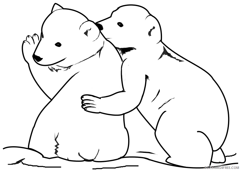 7 Pics Of Polar Bear Christmas Coloring Pages To Print - Cute ... | 566x799