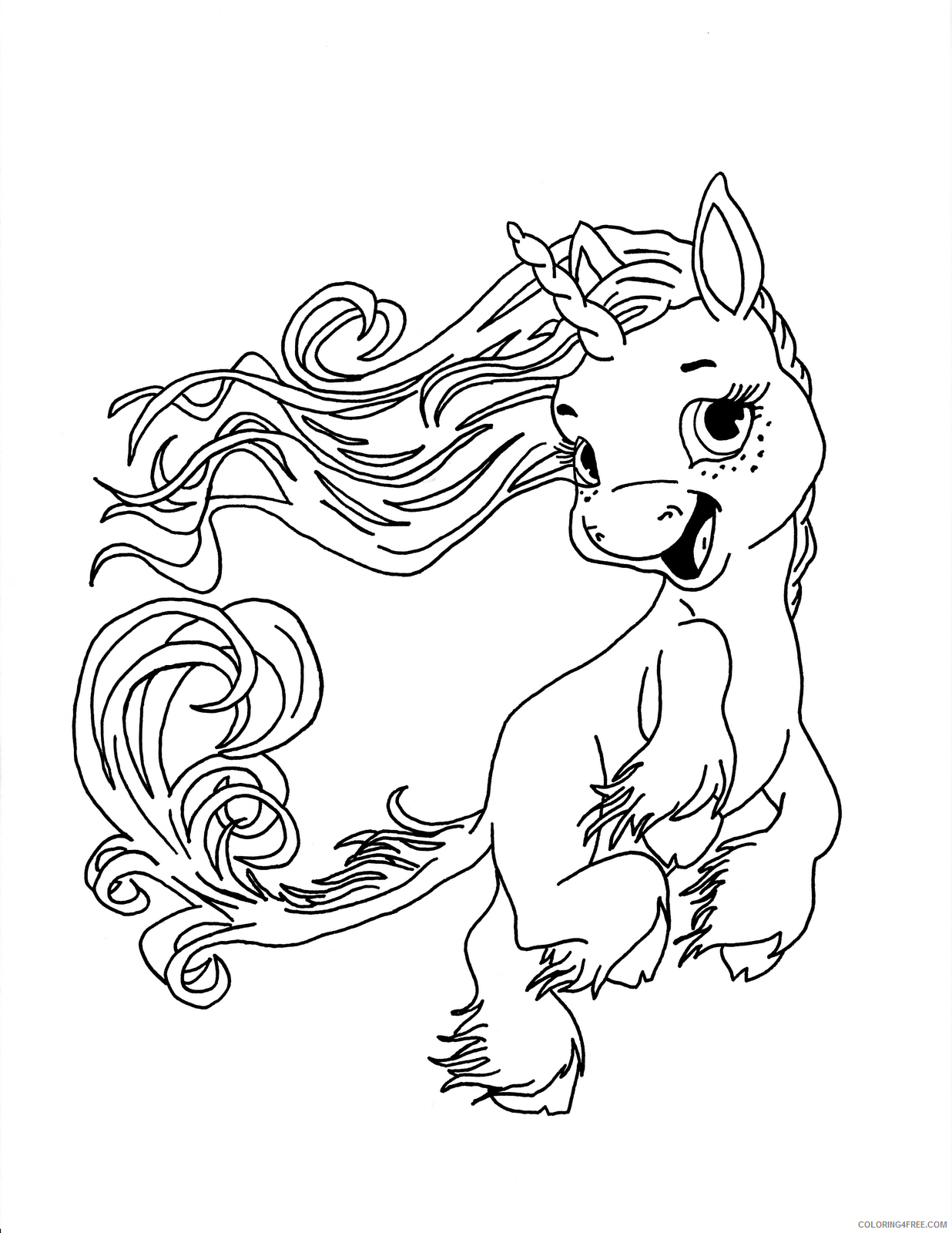 baby unicorn coloring pages for kids Coloring4free