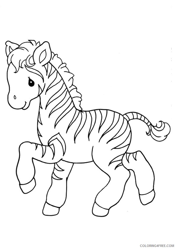 baby zebra coloring pages for kids Coloring4free