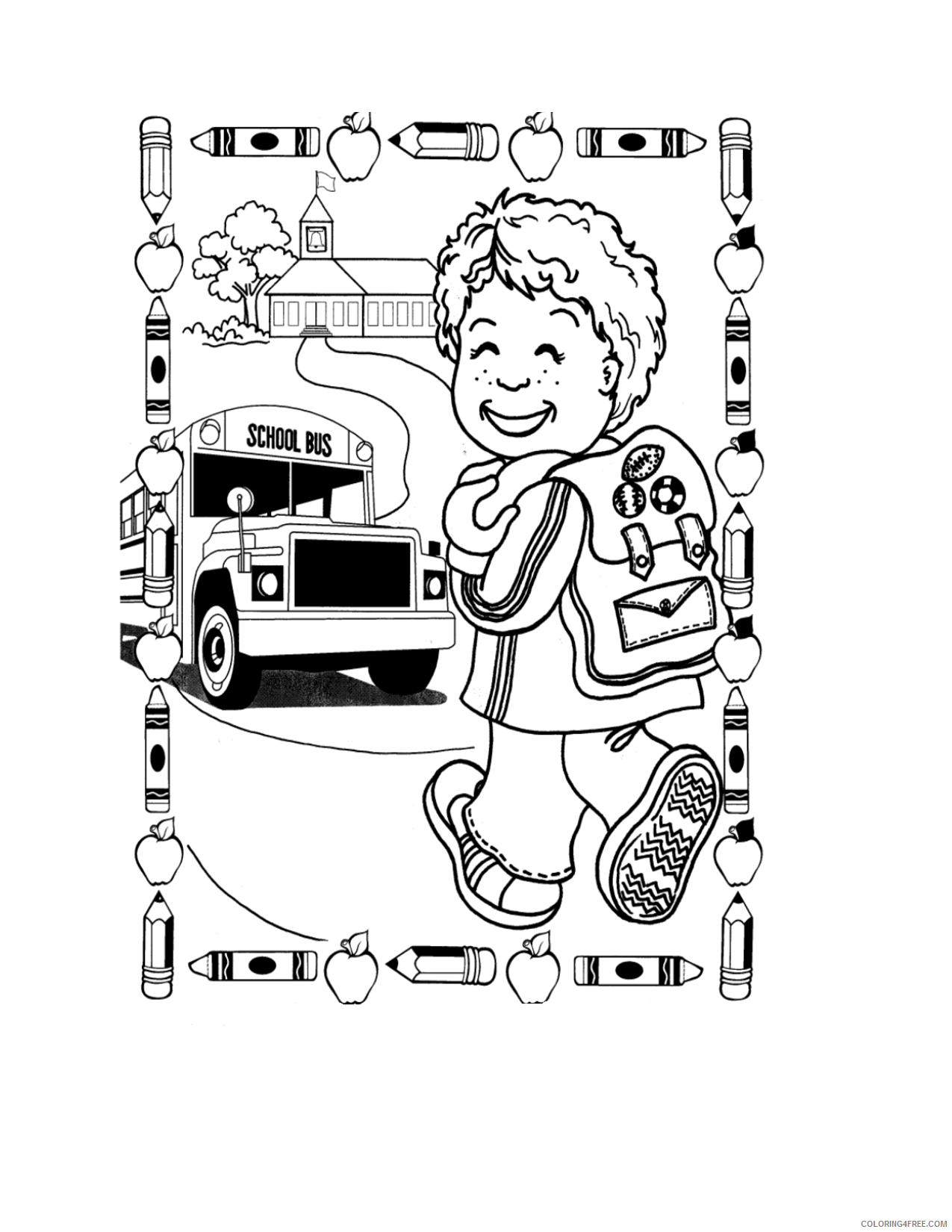 back to school coloring pages for boys Coloring4free