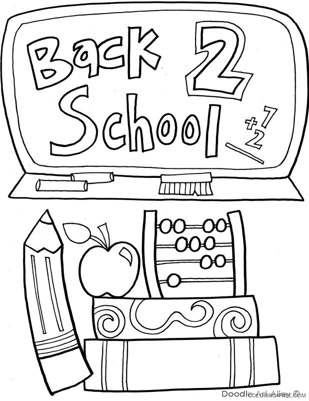 back to school coloring pages for second grade Coloring4free