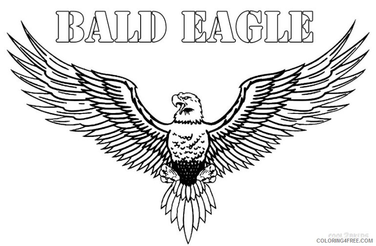 bald eagle coloring pages wingspan Coloring4free