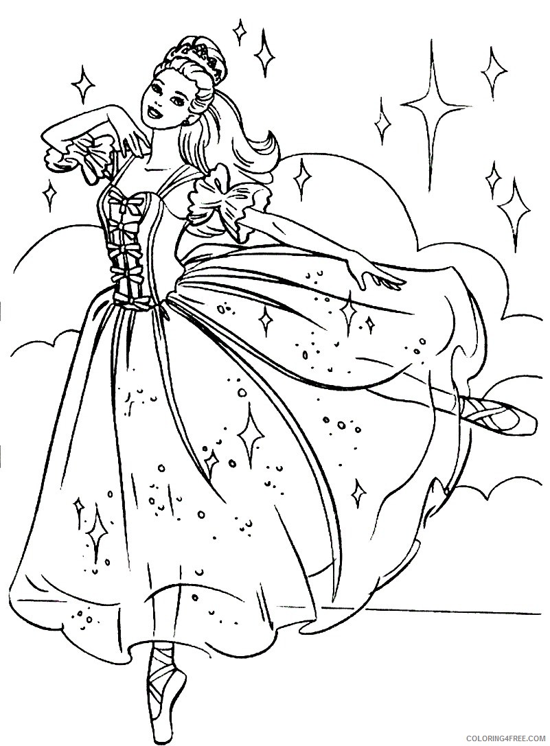 ballerina coloring pages barbie Coloring4free