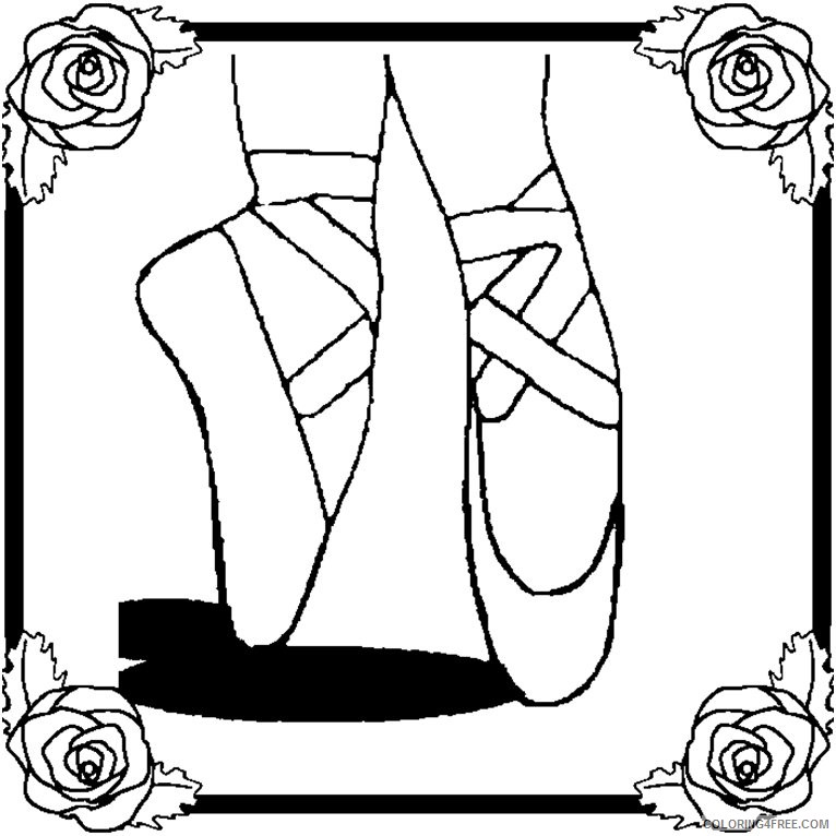 ballet coloring pages ballerina feet Coloring4free