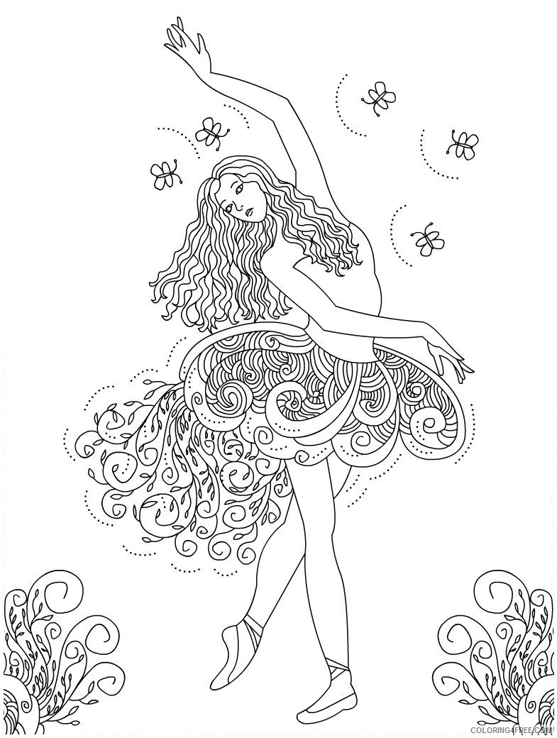 ballet coloring pages for adults printable Coloring4free