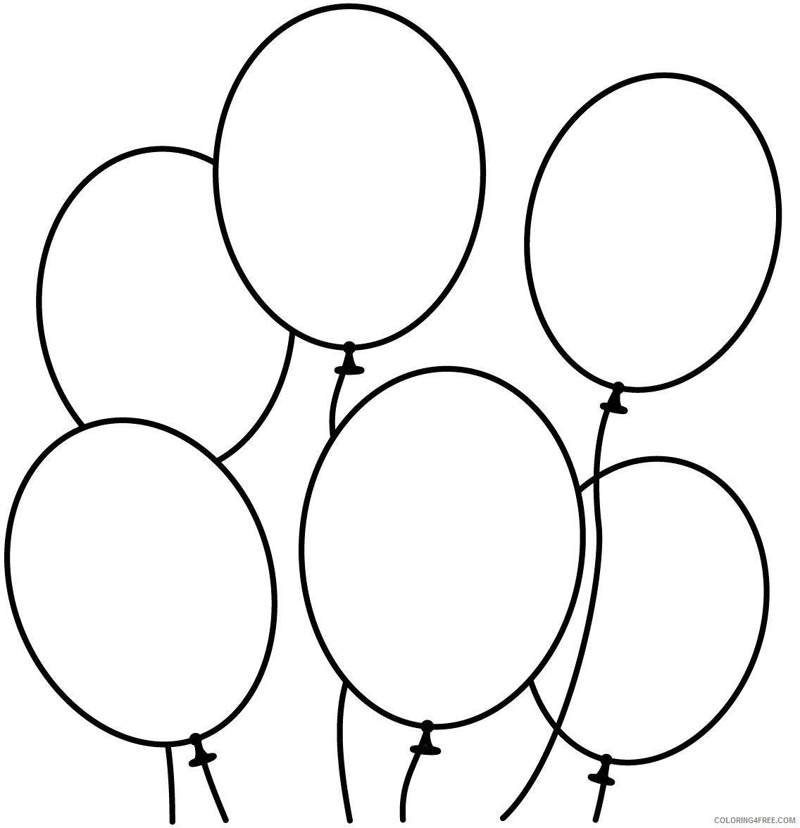 balloon coloring pages free to print Coloring4free