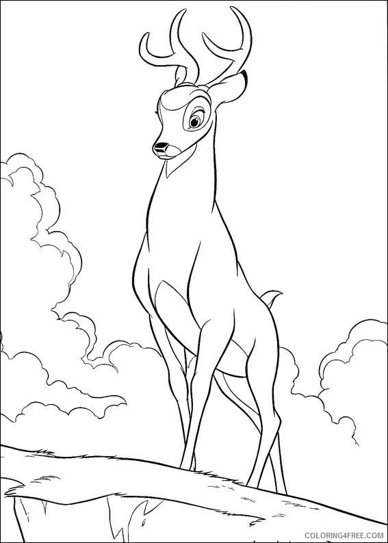 bambi coloring pages ronno Coloring4free