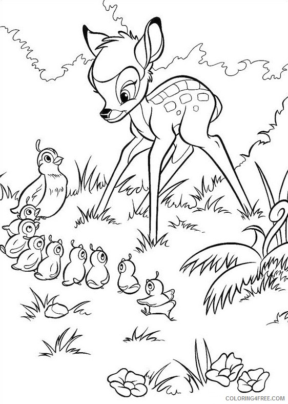 bambi coloring pages to print Coloring4free