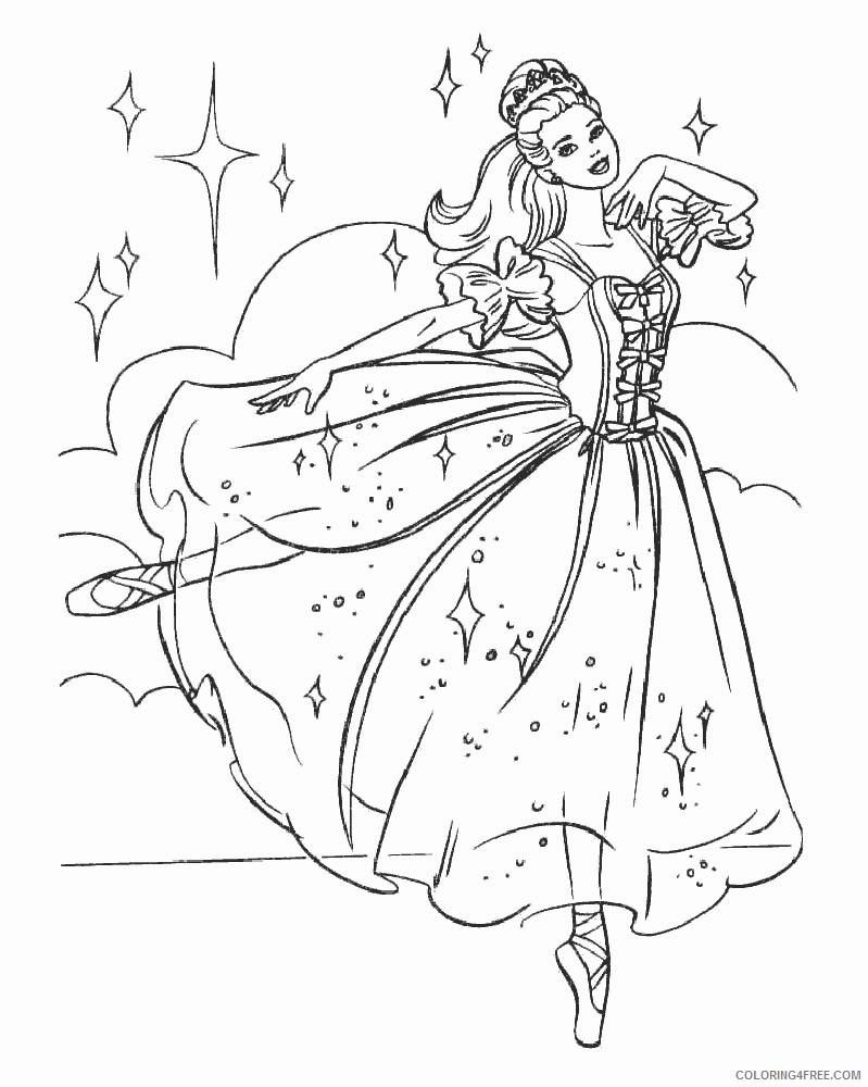 barbie ballet coloring pages printable Coloring4free