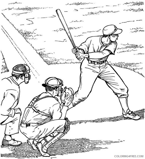 baseball coloring pages batter Coloring4free