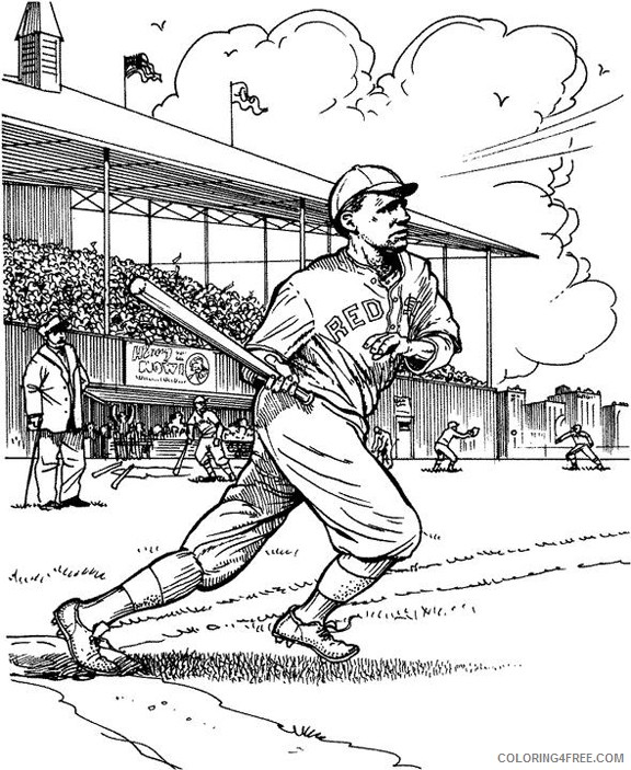 baseball coloring pages boston red sox Coloring4free