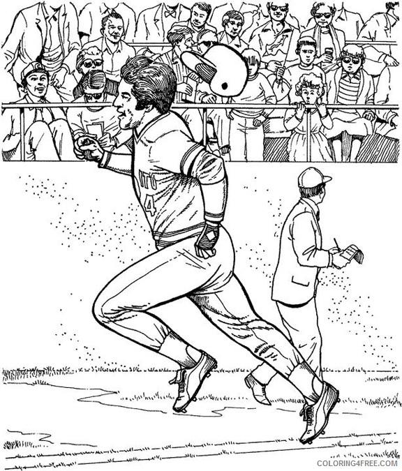baseball coloring pages printable Coloring4free