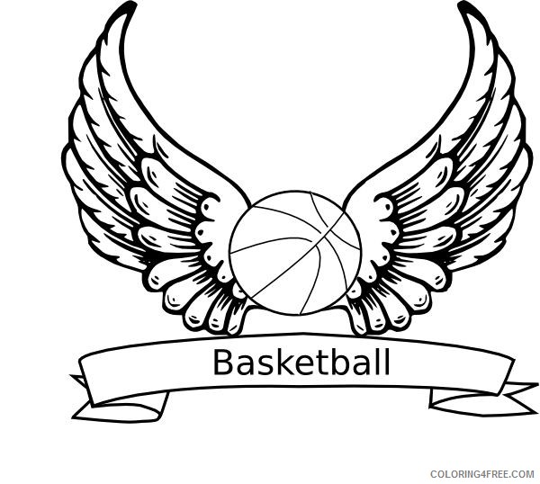 basketball coloring pages printable free Coloring4free