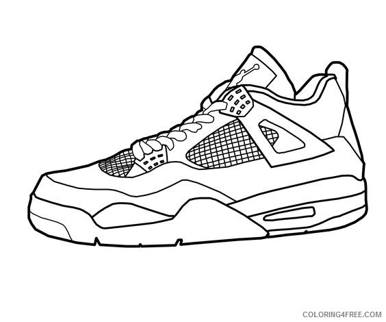basketball coloring pages shoes Coloring4free