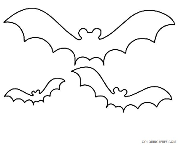 bat coloring pages for toddler Coloring4free