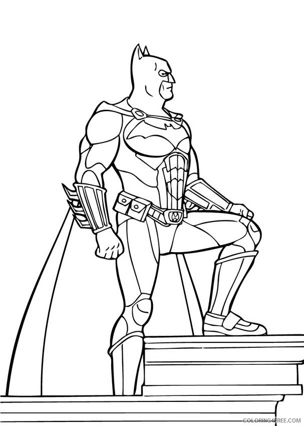 batman superhero coloring pages for kids Coloring4free