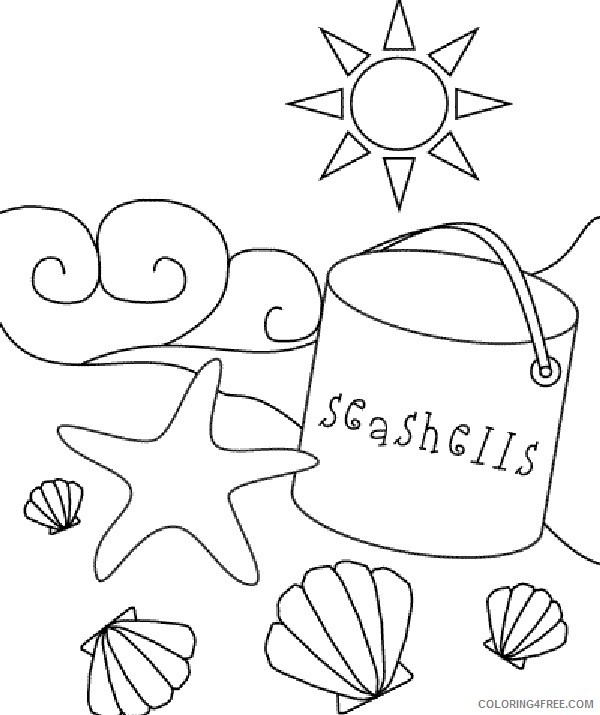 beach coloring pages preschool Coloring4free