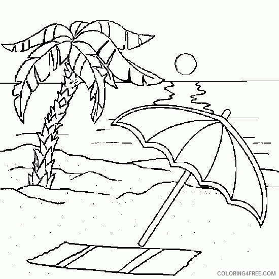 beach coloring pages sunset times Coloring4free