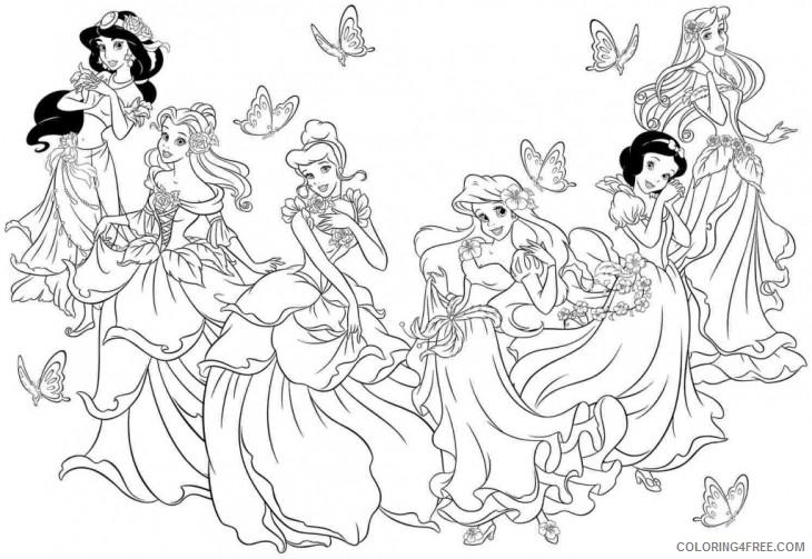 beautiful disney princesses coloring pages Coloring4free