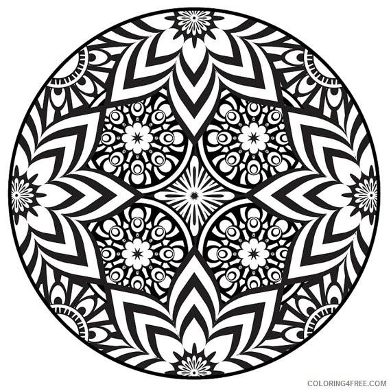 beautiful mandala coloring pages to print Coloring4free