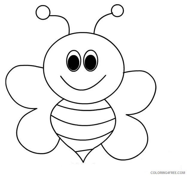 bee coloring pages for preschool Coloring4free