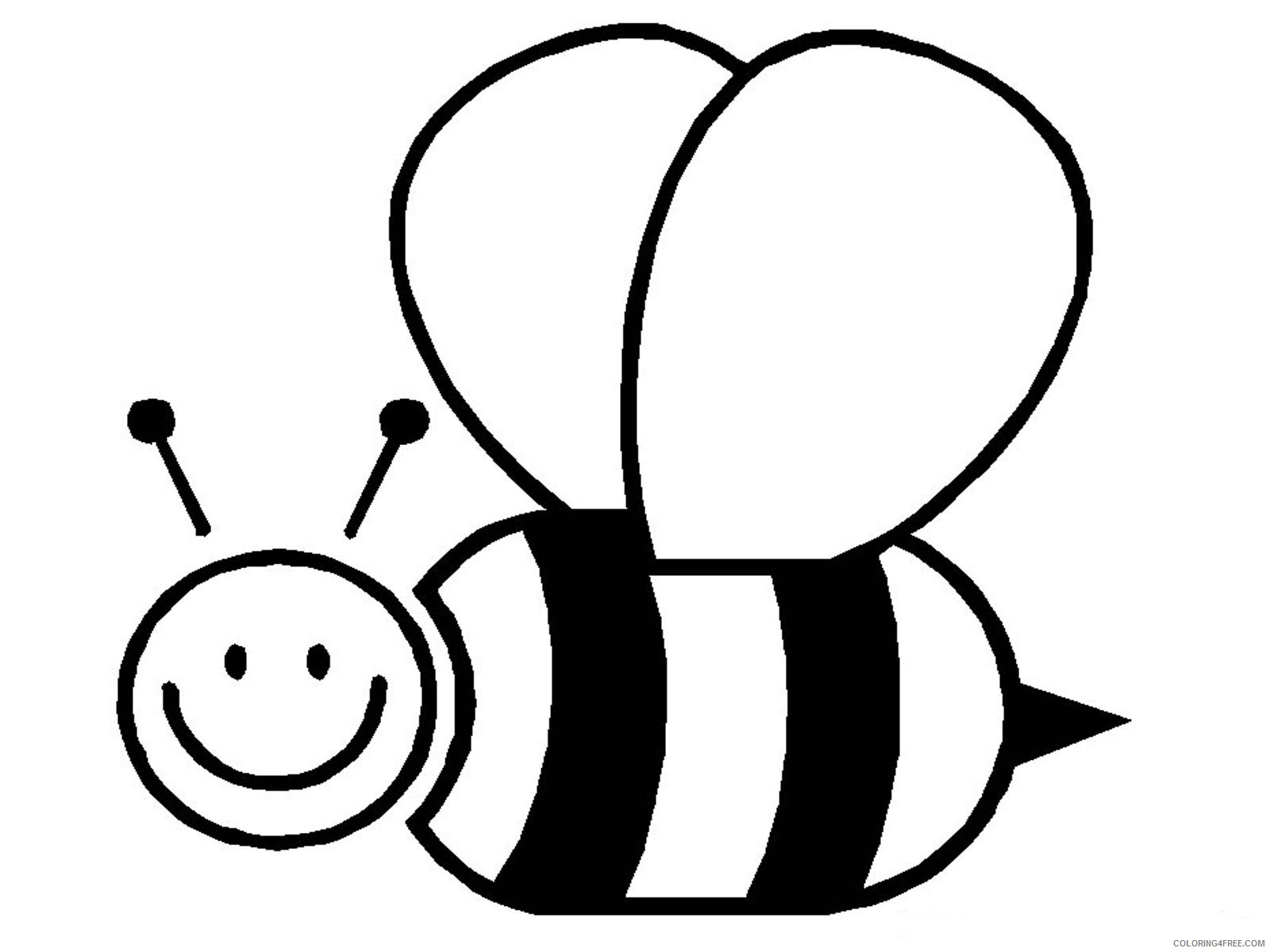 bee coloring pages for preschooler Coloring4free