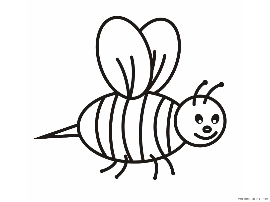 bee coloring pages for toddler Coloring4free