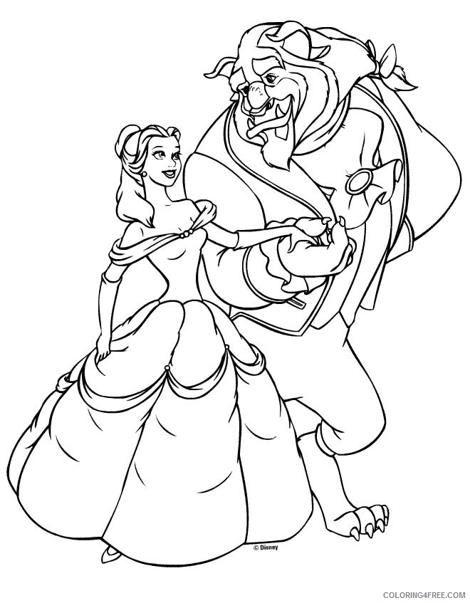 belle coloring pages beauty and the beast Coloring4free