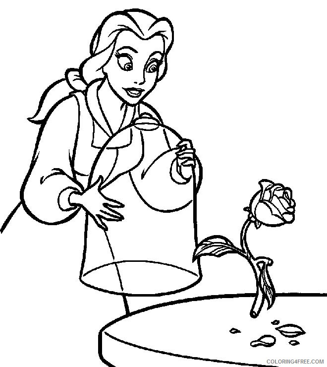 belle coloring pages free printable Coloring4free