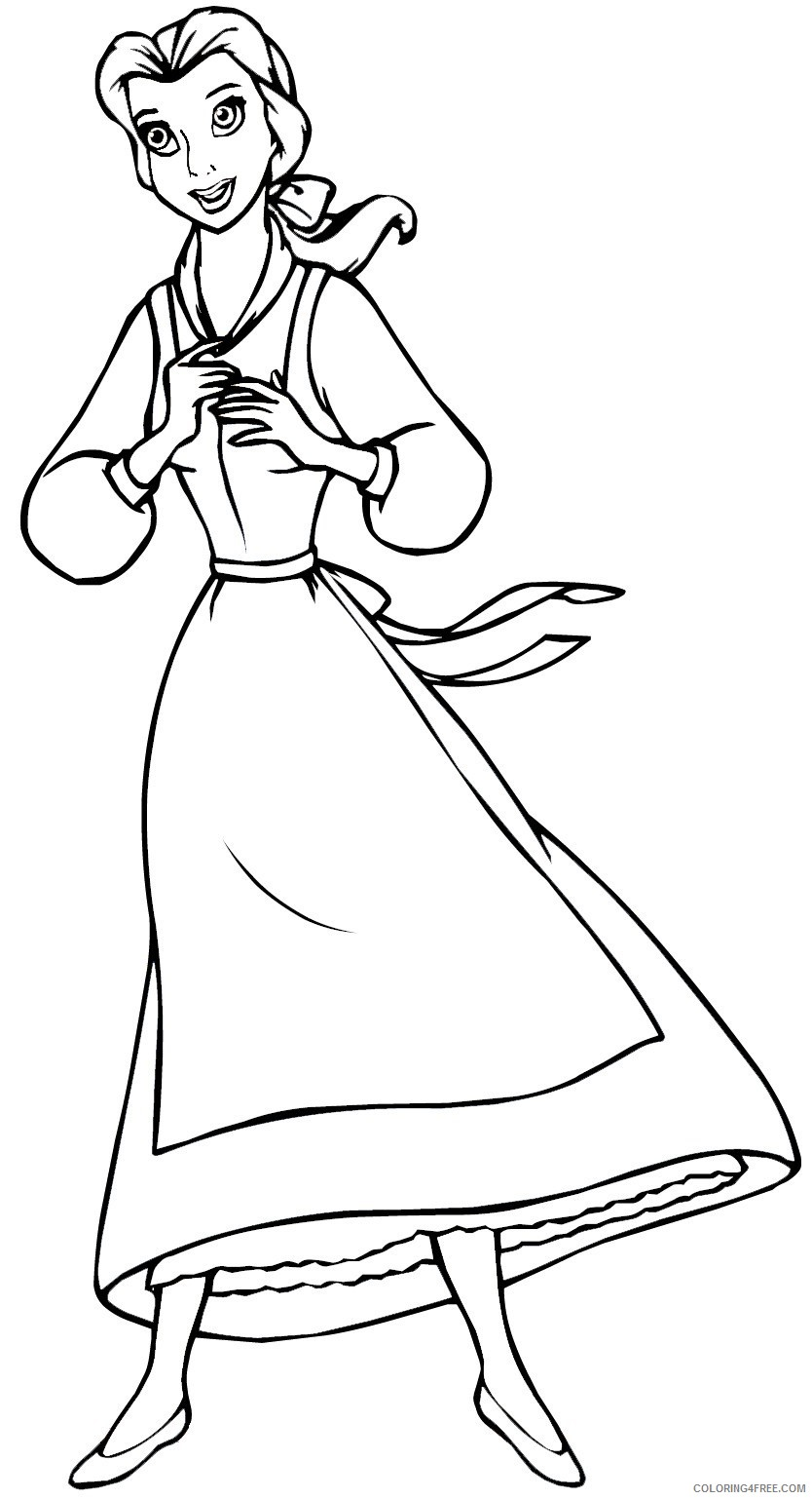 belle coloring pages free to print Coloring4free