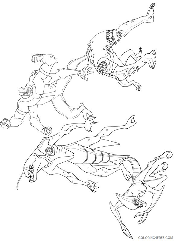 ben 10 coloring pages aliens Coloring4free