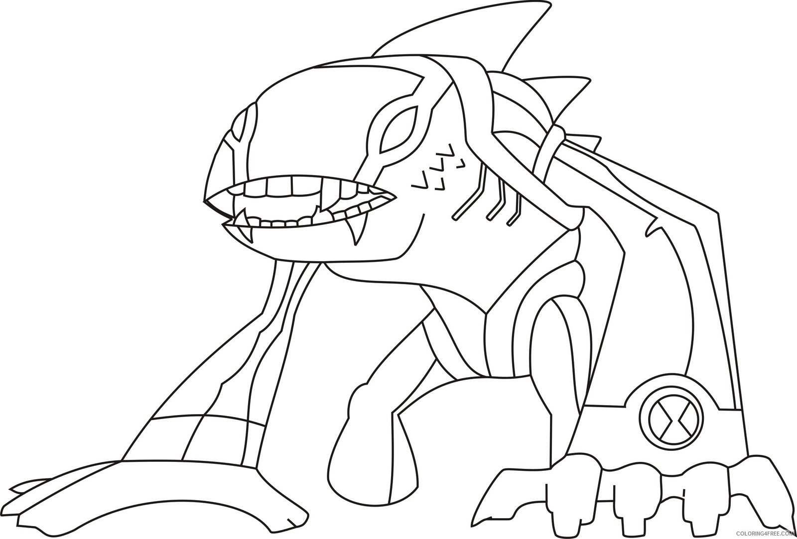 ben 10 coloring pages articguana Coloring4free