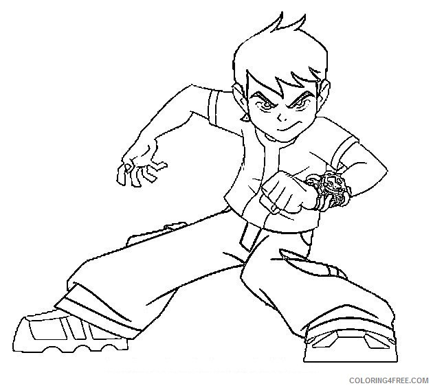 ben 10 coloring pages ben tennyson Coloring4free