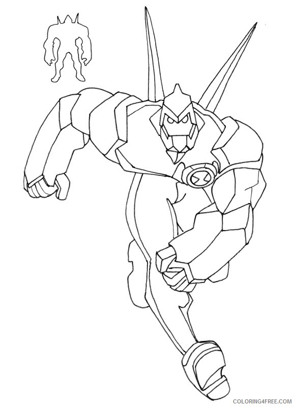 ben 10 coloring pages diamondhead Coloring4free