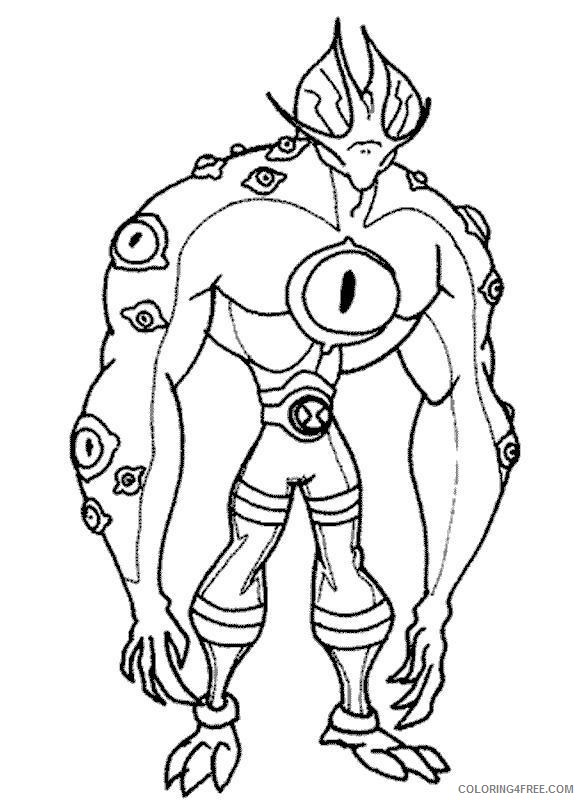 ben 10 coloring pages eye guy Coloring4free