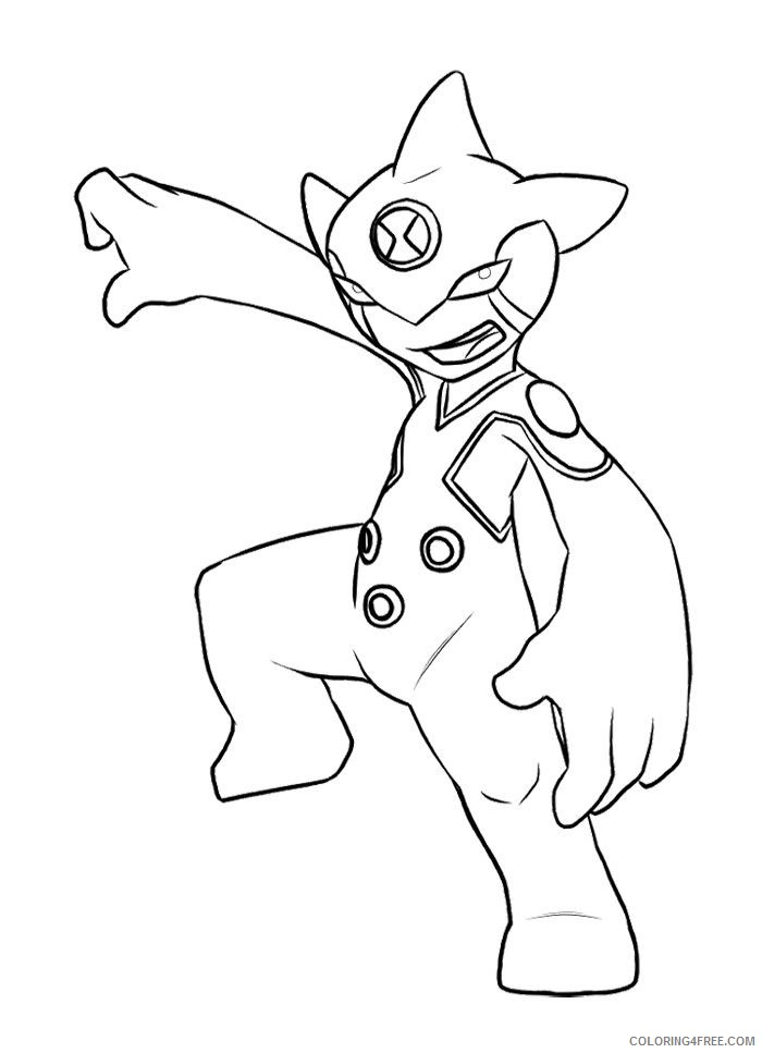 ben 10 coloring pages for kids Coloring4free