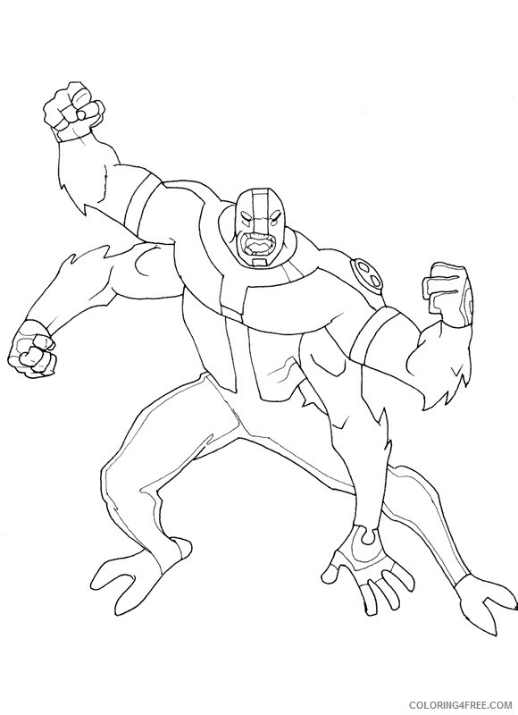 ben 10 coloring pages four arms Coloring4free