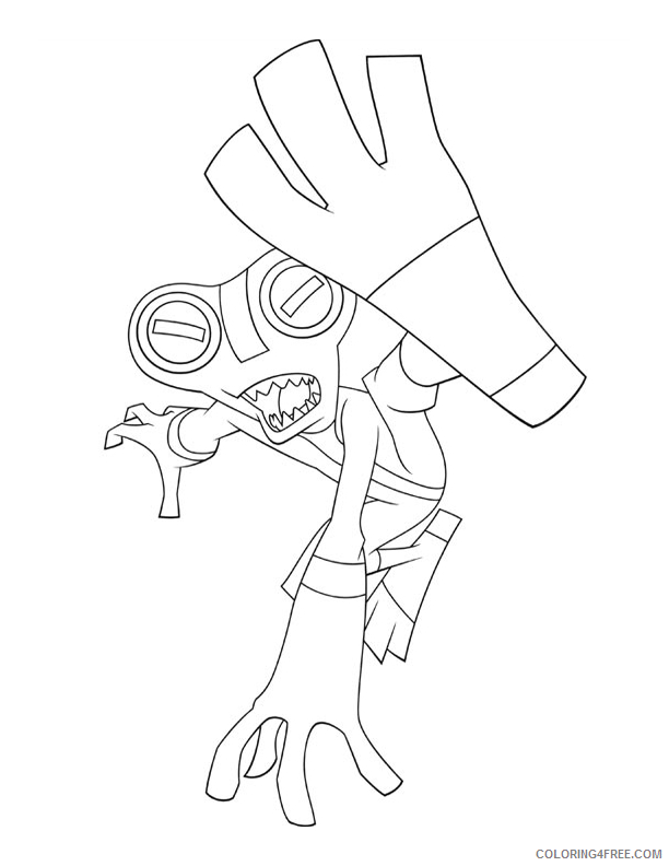 ben 10 coloring pages grey matter Coloring4free