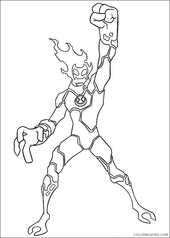 ben 10 coloring pages heatblast Coloring4free