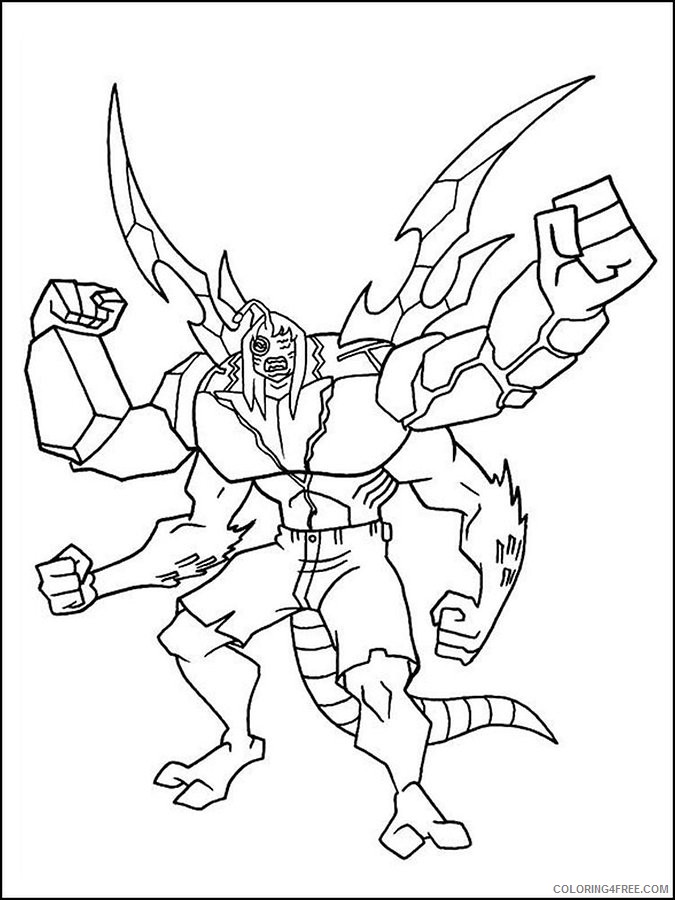 ben 10 coloring pages kevin 11 Coloring4free