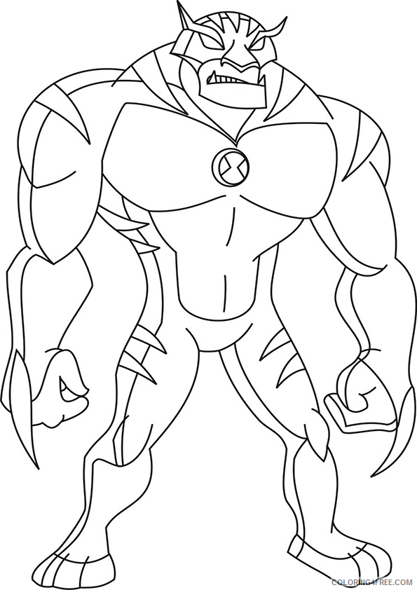 ben 10 coloring pages rath Coloring4free