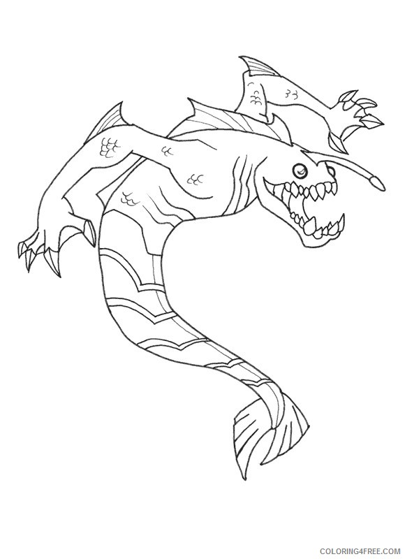 ben 10 coloring pages ripjaws Coloring4free