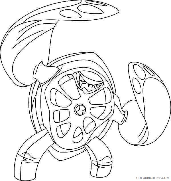 ben 10 coloring pages terraspin Coloring4free